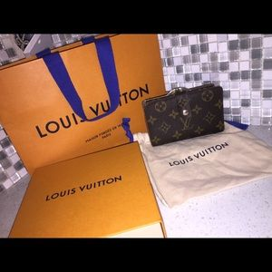 Authentic Louis Vuitton French lock wallet